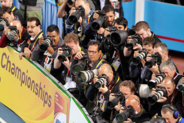 2012 IAAF World Indoor Championships photographer stand.